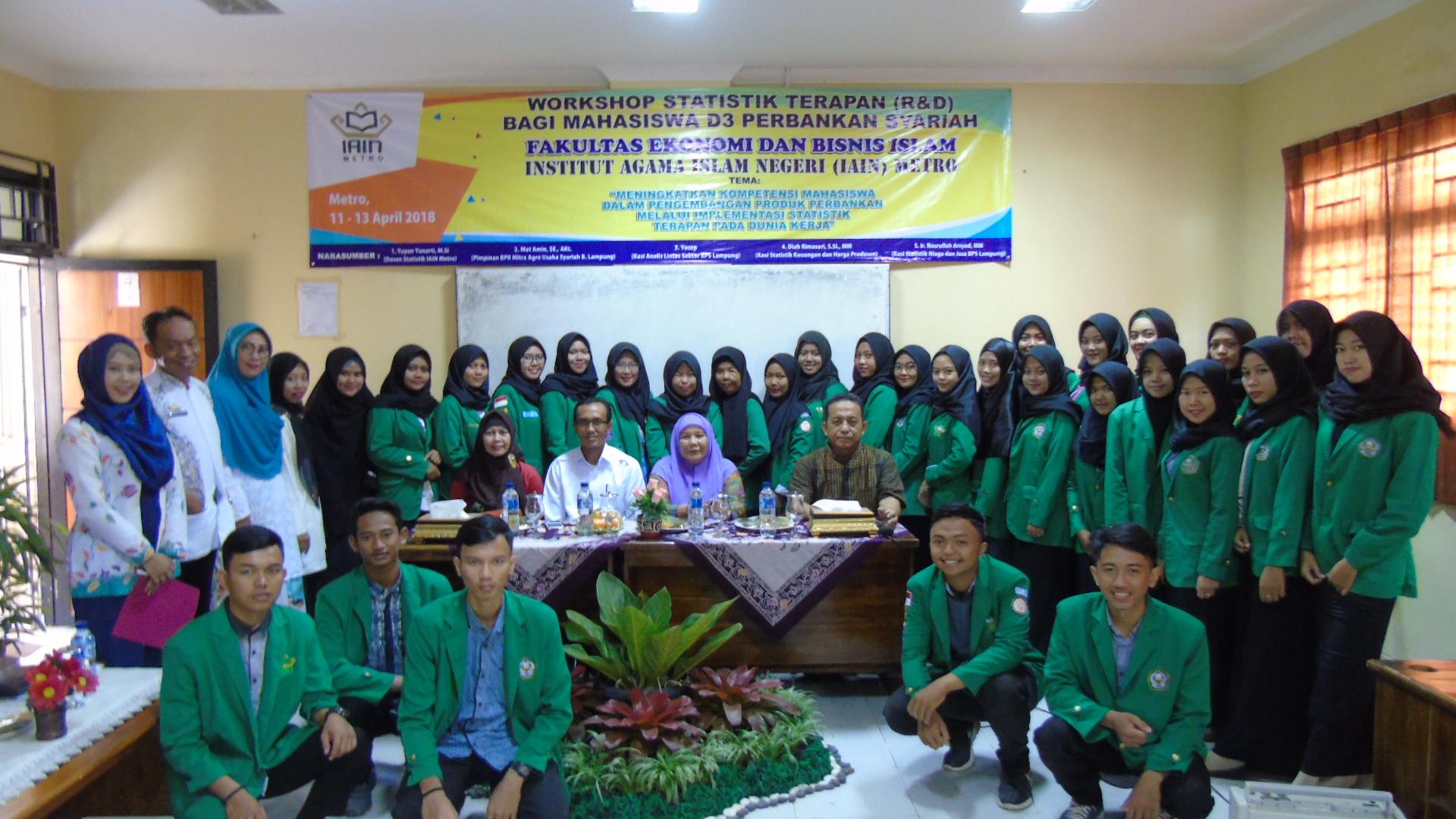 Fakultas Ekonomi Dan Bisnis Islam Gelar Workshop Statistik Terapan R D Febi Iain Metro